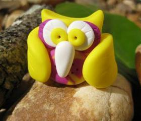 Raya the Owl - Polymer clay figurine