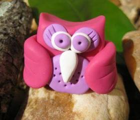 Petunia the Owl - Polymer clay figurine