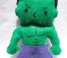 The Incredible Hulk inspired felt doll
